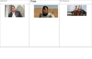 Handouts on Plot, Characterization, and Theme for Star Wars The Force Awakens