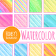 Handpainted Watercolor Diagonal Lines Digital Paper / Backgrounds Clip Art