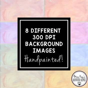 Handpainted Watercolor Digital Paper, Backgrounds, and Frames - Set #2