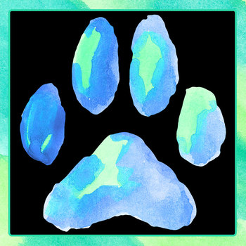 Handpainted Watercolor Dogs Paw Prints / Pets Clip Art for Commercial Use
