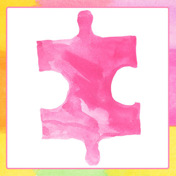 Handpainted Watercolor Jigsaw Puzzle Pieces Clip Art Set for Commercial Use