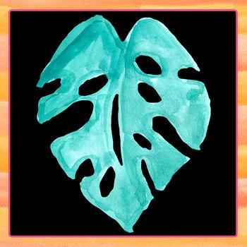 Handpainted Watercolor Jungle Leaves / Leaf Clip Art Set Commercial Use