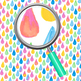 Handpainted Watercolor Rainbow Drops Digital Papers / Backgrounds