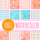 Handpainted Watercolor Ships Wheels / Nautical Digital Papers / Backgrounds
