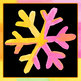 Handpainted Watercolor Snowflakes Clip Art Set for Commercial Use