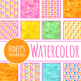 Handpainted Watercolor Spring Flowers / Floral Digital Papers / Backgrounds