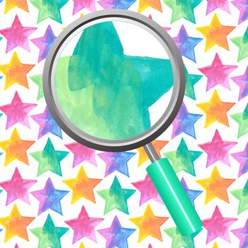 Handpainted Watercolor Star Backgrounds / Digital Paper Clip Art Set