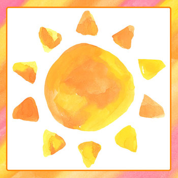 Handpainted Watercolor Suns Clip Art Set for Commercial Use