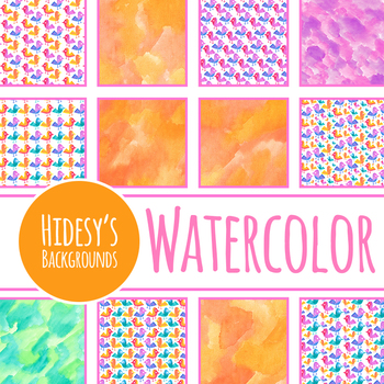 Handpainted Watercolor Tweety Bird Digital Paper / Backgrounds / Patterns