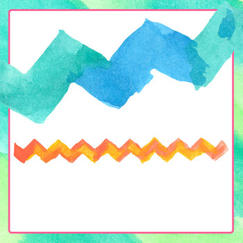 Handpainted Zig Zag Lines Clip Art Set for Commercial Use