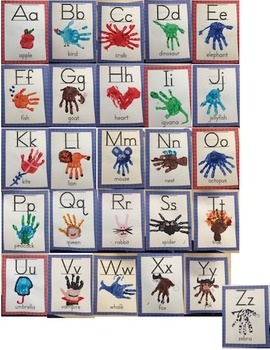 letter a handprint craft handprint alphabet by teachers pay teachers 19447 | original 2057938 3