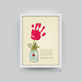 Handprint Art Craft - Flower Jar - Happy Mother's Day 0069
