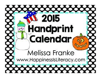 Handprint Calendar 2015