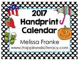 Handprint Calendar 2017