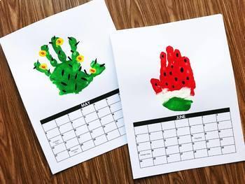 Handprint Calendar 2018 - Editable (with special  BONUS)