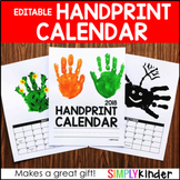 Handprint Calendar 2018 - Editable (with special  BONUS)