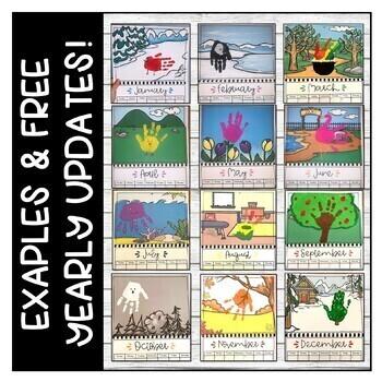 Handprint Calendar 2020 - Gift Idea - Free Yearly Updates