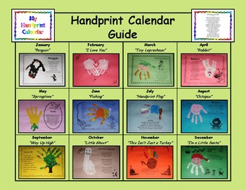 Handprint Calendar (Christmas Craft - Gift) by Primary Pit ...