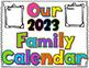 Handprint Calendar Gift