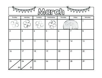 Handprint Calendar for 2014
