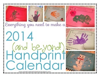 Handprint Calendar with Templates and DIY Pages!