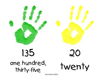 Handprint Fives - Skip Counting Visual Aid