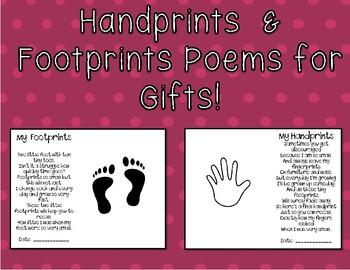 Handprint & Footprint Poem Gift for Families