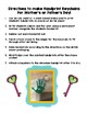 Mother's / Father's Day Handprint Keychain Gift Tag Note & Directions