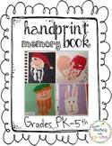 Handprint Memory Book