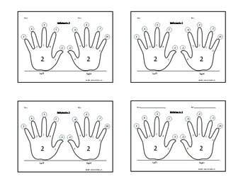 Skip-Counting by 2, 5, and 10 Multiplication Handprint Bundle!