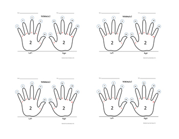 Skip-Counting by 2 Multiplication Handprint