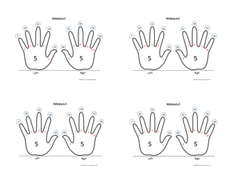 Skip-Counting by 5 Multiplication Handprint