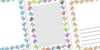 Handprint Page Borders