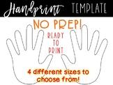 Handprint Template - Handprints - Handprint Cut-outs