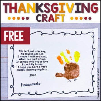 Handprint Turkey Poem