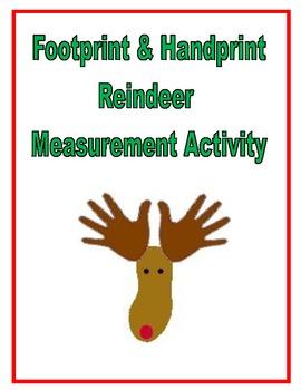 Handprint and Footprint Reindeer Measurement Activity