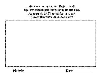 Handprint poem and keepsake for parents