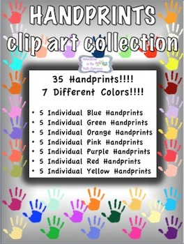 Handprints Clip Art Collection
