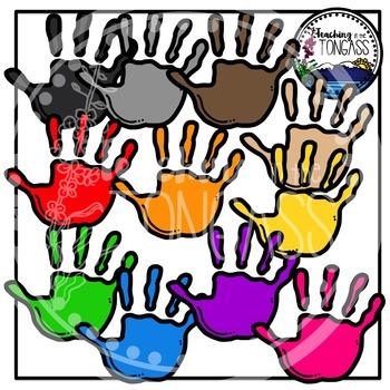 Handprints Clipart (School Clipart)