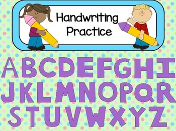 Handwriting Practice Flipchart for ActivInspire