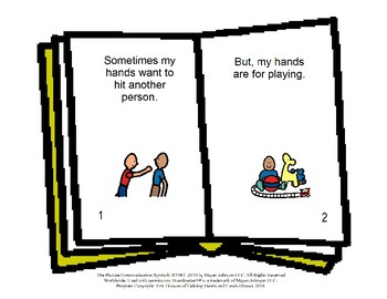 Hands Are For - Social Story Book