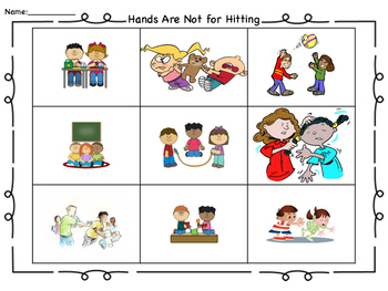 Hands Are Not for Hitting or Hands Off Harry! worksheet