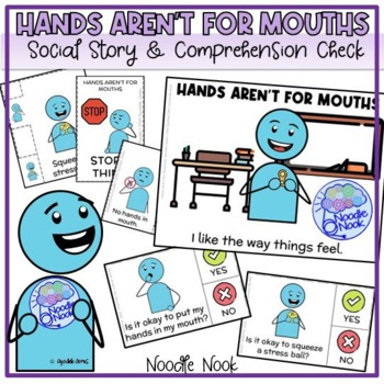 Hands Aren't for Mouths- A Social Story for Autism Units and Early Elem