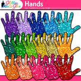 Rainbow Hand Clip Art | Community Helper Handprints for Brag Tags & Task Cards