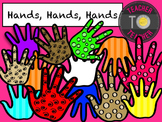 Hands Clipart 2 {TeacherToTeacher Clipart}