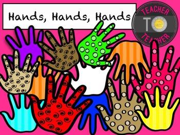 Hands Clipart 2 {TeacherToTeacher Clipart}