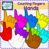 Hands Clipart {Counting fingers 1-4}