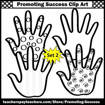 Colorful Hands Clipart Commercial Use Images SPS