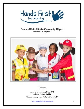 Hands First for Learning Preschool Unit of Study: Community Helpers