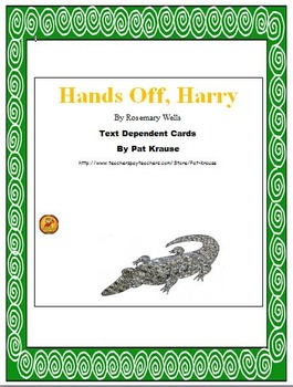 Hands-Off, Harry Bundle (Letter Recognition, Text Questions and Word Game)